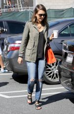 JESSICA ALBA Out and About in Brentwood