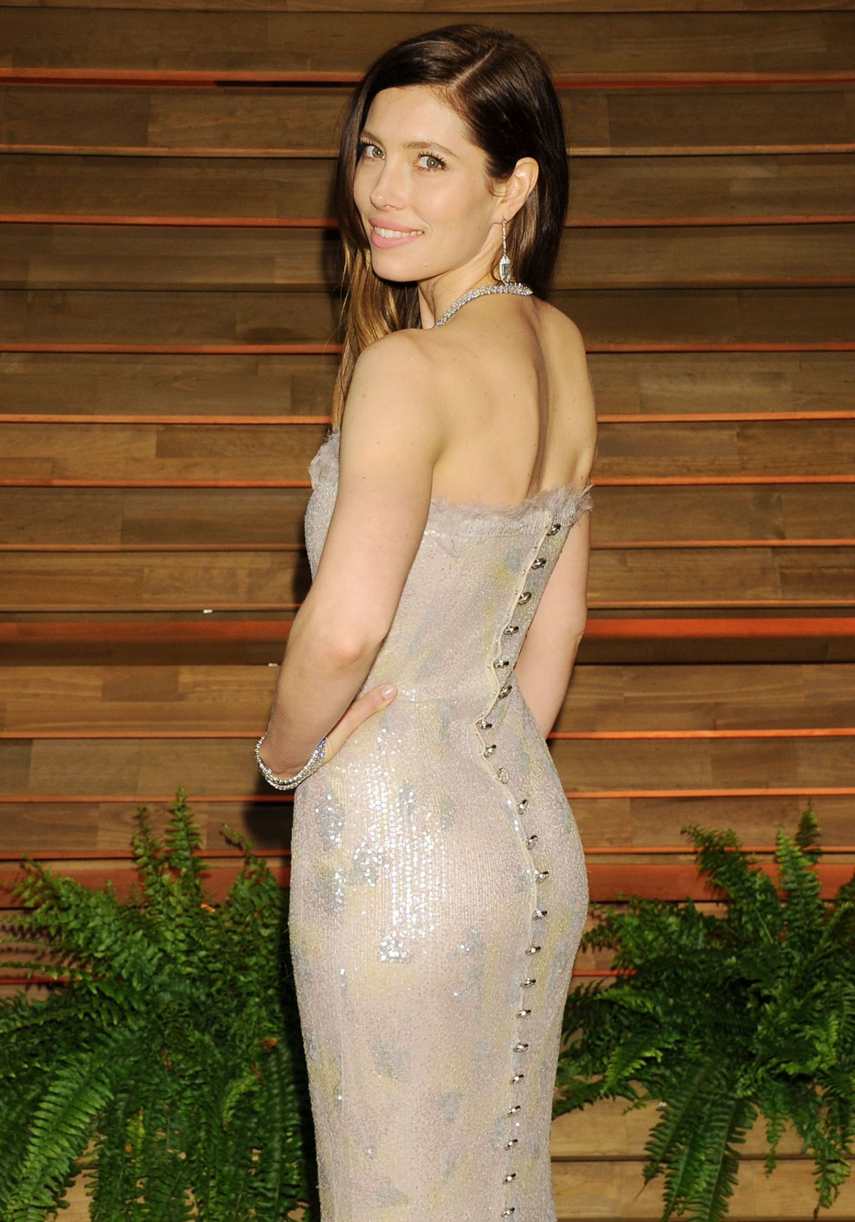 JESSICA BIEL at Vanity Fair Oscar Party in Hollywood
