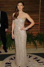 JESSICA BIEL at Vanity Fair Oscar Party in Hollywood