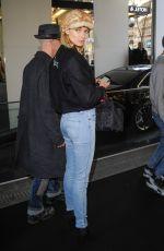 JESSICA HART Arrives at Sonia Tykiel Fashion Show in Paris