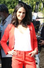 JORDANA BREWTER on the Set of Extra in Los Angeles