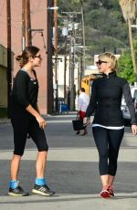 JULIANNE HOUGH and NIKKI REED Leaves a Gym in Studio City