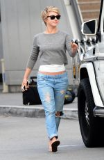 JULIANNE HOUGH in Ripped Jeans Out in Los Angeles