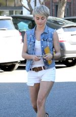 JULIANNE HOUGH in Shorts out for Grocery Shopping in Beverly Hills