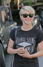 JULIANNE HOUGH Leaves a Hair Salon in West Hollywood