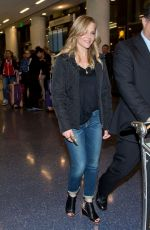 JULIE BENZ at LAX Airport in Los Angeles