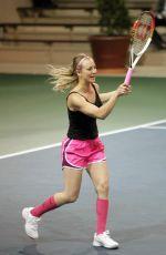 KALEY CUOCOC at at Charity Tennis Match in Calabasas