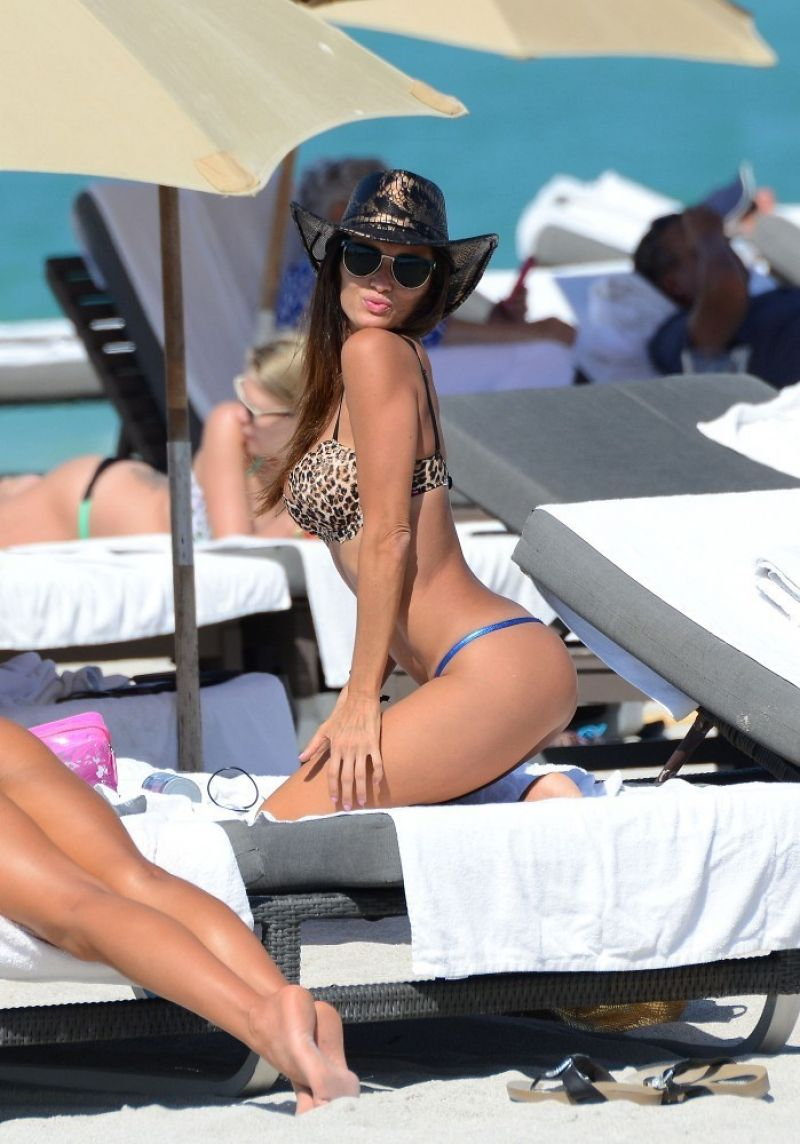 KARINA JELINEK in Bikini in Miami