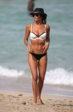 KARINA JELINEK in Bikini on the Beach in Miami