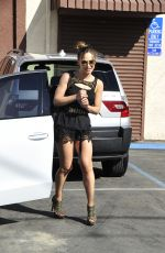 KARINA SMIRNOFF Leaves DWTS Rehearsals in West Hollywood