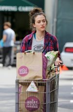 KAT DENNINGS Shopping at Whole Foods in Studio City