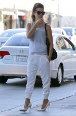 KATE BECKINSALE Leaves a Spa in Brentwood