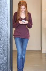 KATHERINE MCNAMARA Leaves a Salon in West Hollywood