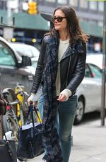 KATIE HOLMES Out and About in New York 0703