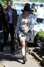 KATY PERRY Arrives at Catalina Resutaurant in Sydney