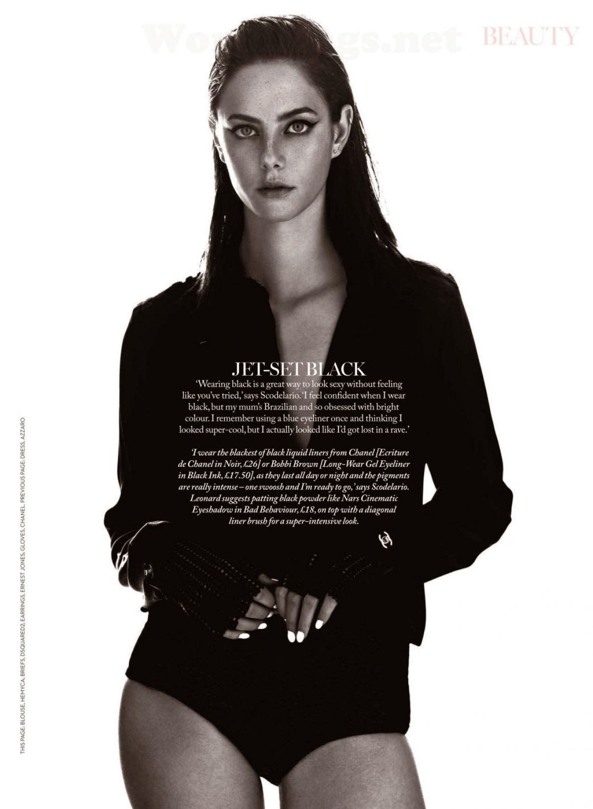 kaya scodelario in marie claire magazine april issue