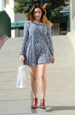 KELLY BROOK in Short Dress Out in Beverly Hills