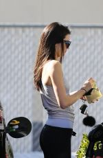 KENDALL JENNER in Tight Leggings at a Gas Station in Calabasas
