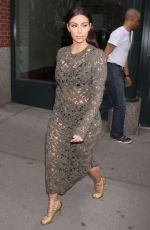 KIM AKRDASHIAN Heading to Late Night with Seth Meyers in New York