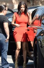 KIM KARDASHIAN Arrives at a Studio in Los Angeles