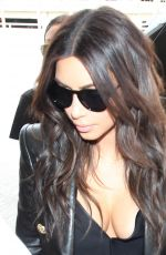 KIM KARDASHIAN at LAX Airport in Los Angeles