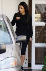 KIM KARDASHIAN Leaves Skin Clinic in Beverly Hills
