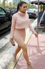 KIM KARDASHIAN Out for Lunch at the Webster