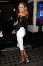 KIMBERLEY GARNER at Jersey Boys 6th Birthday at the Piccadilly Theatre in London