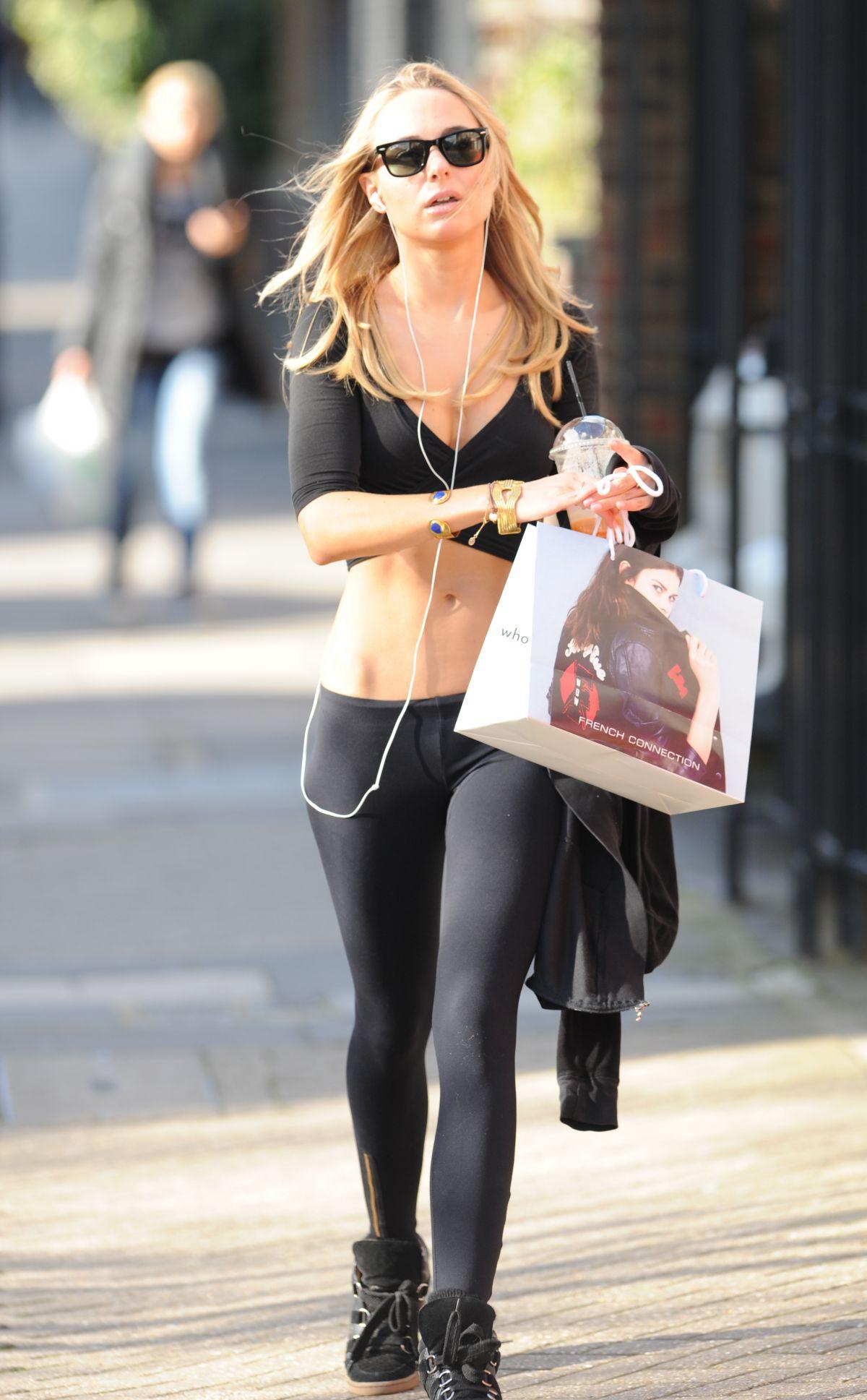 KIMBERLEY GARNER in Tights Leaves a Gym in London