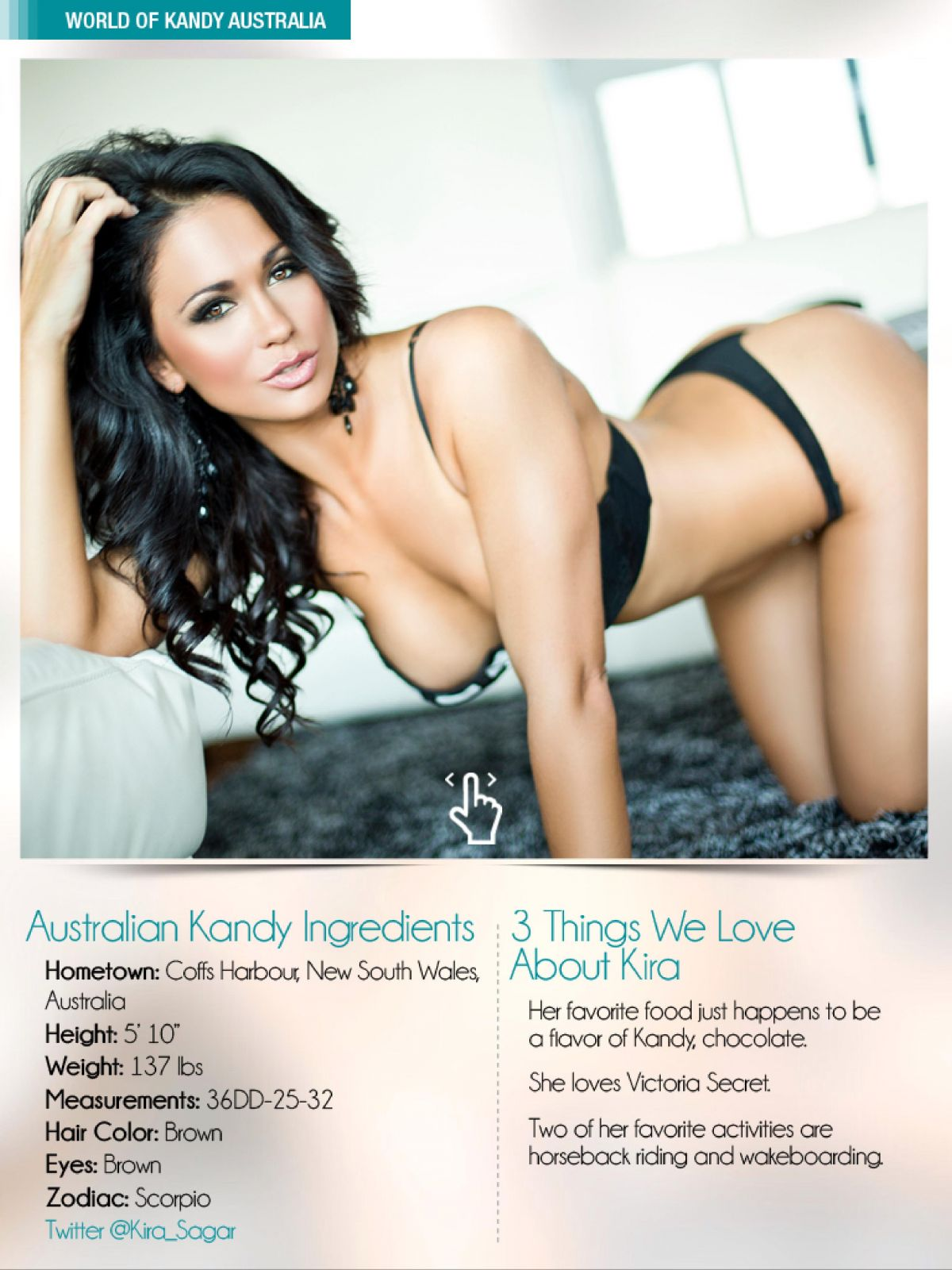 KIRA SAGAR in Kandy Magazine, March 2014 Issue