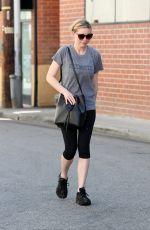 KIRSTEN DUNST in Leggigns Leaves Tracy Anderson Gym in Los Angeles