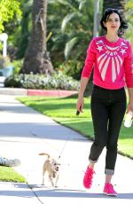 KRYSTEN RITTER in Tight Jeans Takes Her Dog for a Walk in Los Feliz