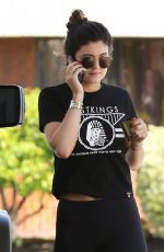 KYLIE JENNER in Tights at a Gas Station in Calabasas