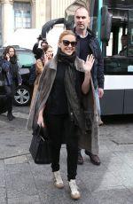 KYLIE MINOGUE Arrives at Gare du Nord in Paris
