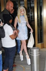 LADY GAGA Leaves Her Hotel in Manhattan