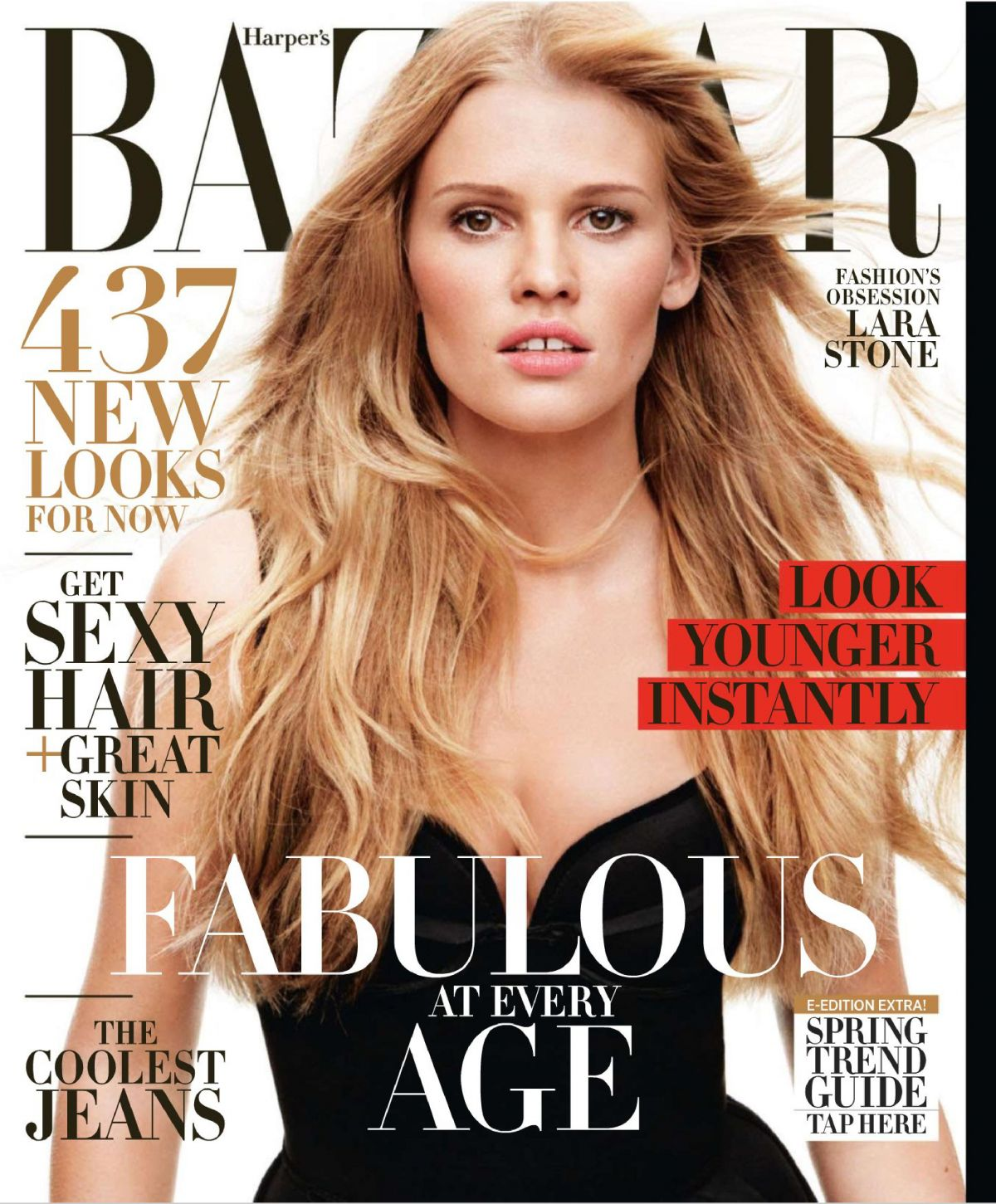 LARA STONE in Harper's Bazaar Magazine, April 2014 Issue - HawtCelebs - HawtC...