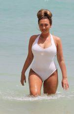 LAUREN GOODGER in Swimsuit at a Beach in Malibu