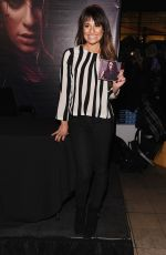 LEA MICHELE at Her Album  Louder Singing Event at Sony Store in New York
