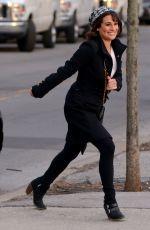 LEA MICHELE at Washington Square Park in New York