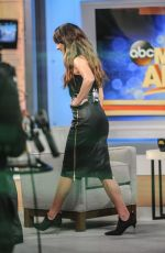 LEA MICHELE on the Set of Good Morning America in New York