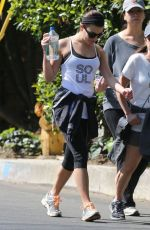 LEA MICHELE Out Hiking in Hollywood