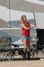 LEANN RIMES Camping in Mojave Desert
