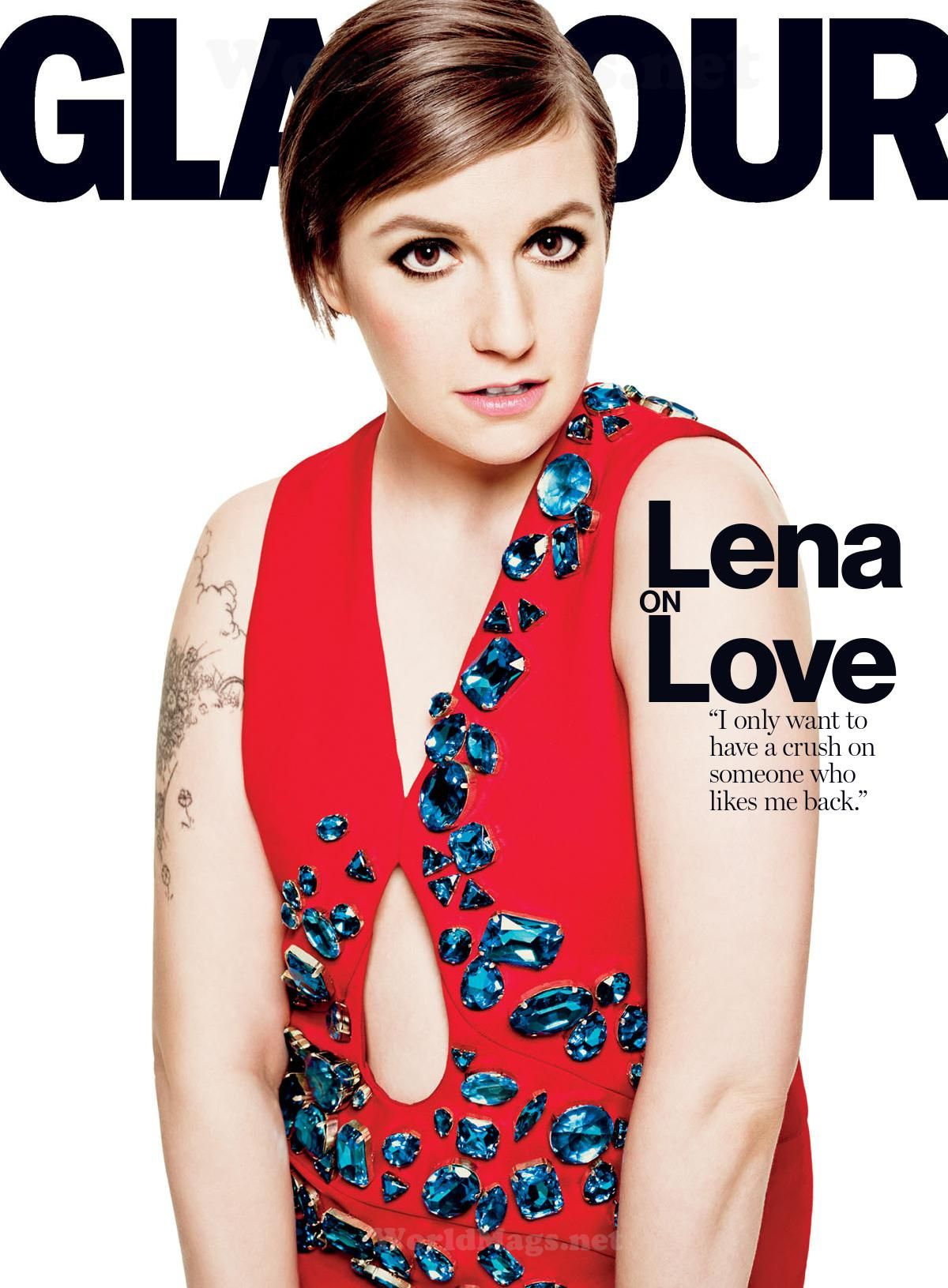 LENA DUNHAM in Glamour Magazine, April 2014 Issue