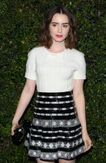 LILY COLLINS at Chanel Charles Finch Pre-Oscar Dinner in Los Angeles