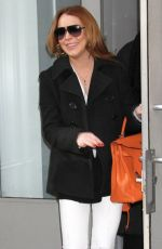 LINDSAY LOHAN Out and About in New York