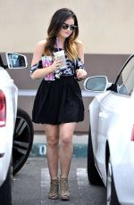 LUCY HALE at Coffee Bean & Tea Leaf in Los Angeles