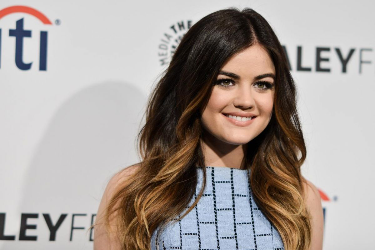 Lucy hale hair color on pretty little liars