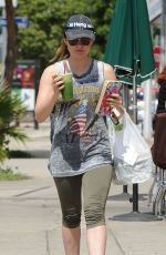 LUCY HALE in Leggings Out in Los Angeles