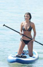 LUCY MECKLENBURGH in Bikini Paddleboarding in Miami