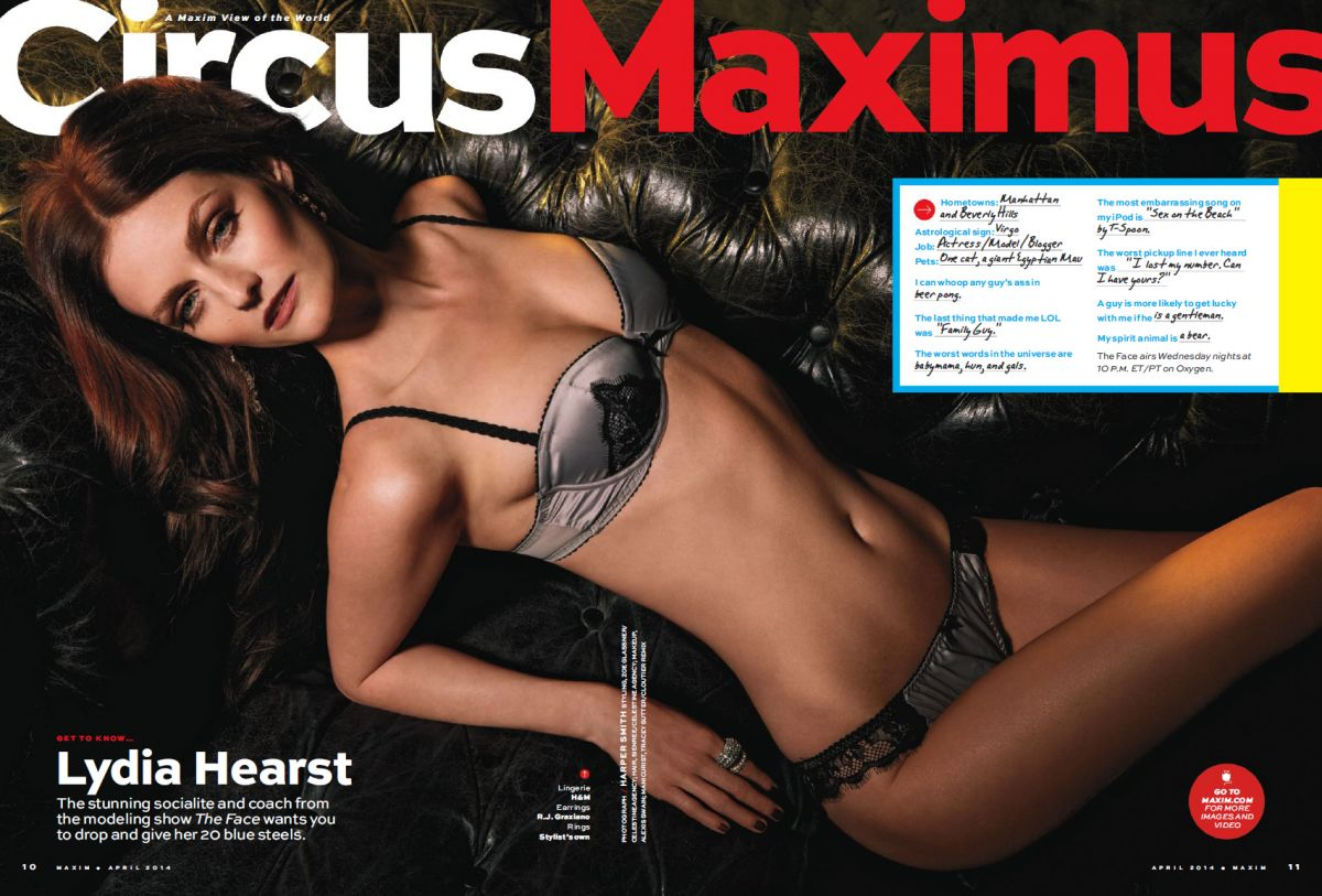 LYDIE HEARST in Maxim Magazine, April 2014 Issue